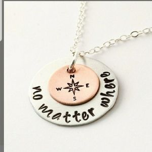 Jewelry - Compass Necklace Gift for Her Pendant & Chain